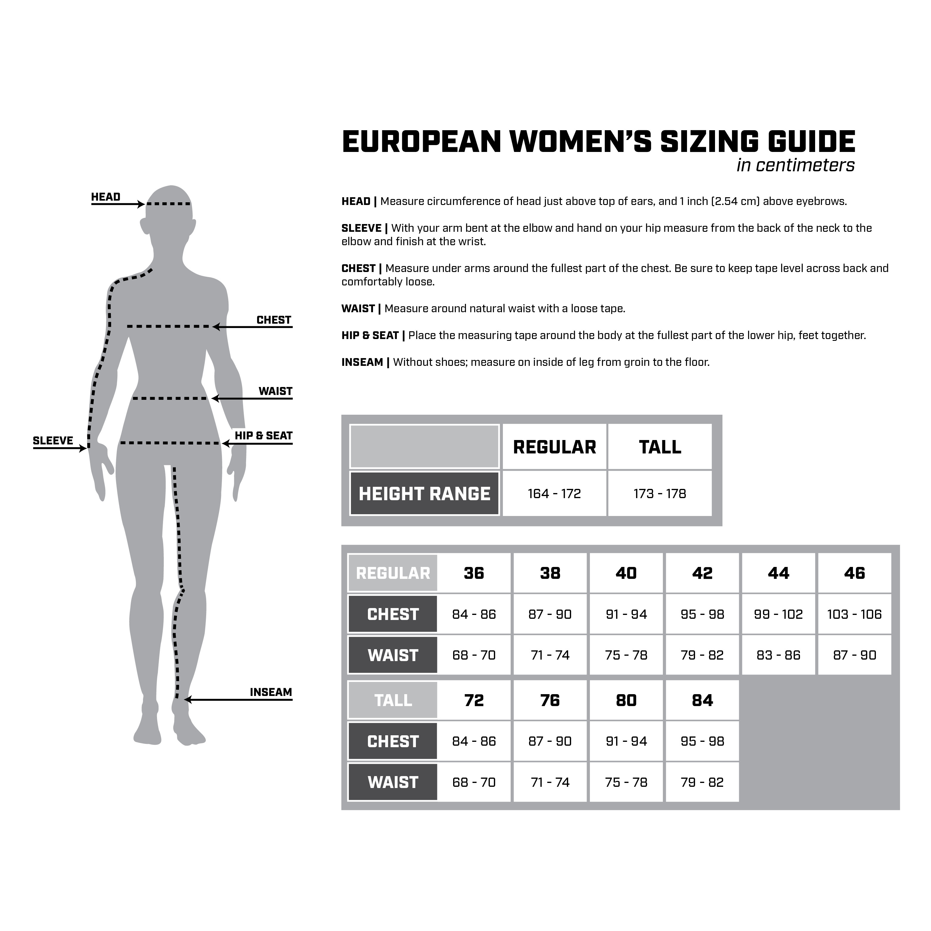 EU Size Chart 2