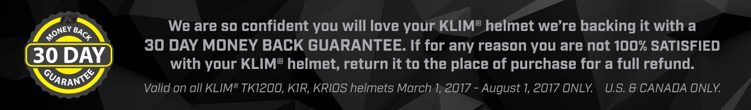 KLIM 30 Day Guarantee